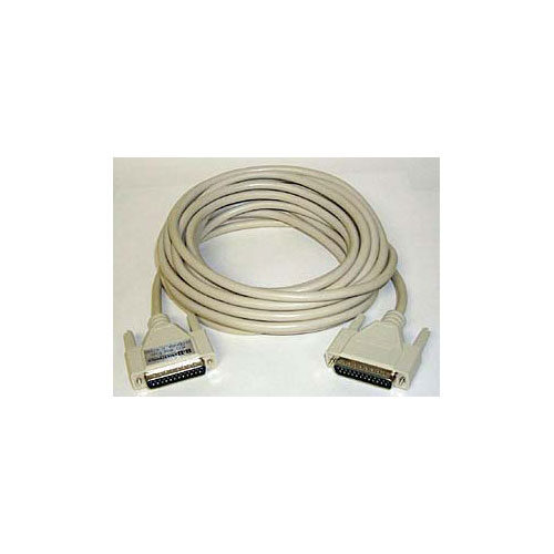 25 ft Computer Cable, DB25 Male/Male
