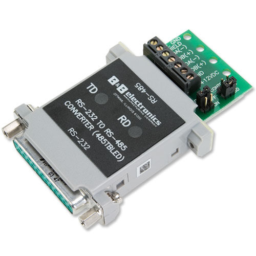 Converter with Leds RS-232 to RS-485
