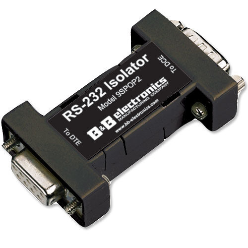 Port-Powered RS-232 Isolator, 9 Pin, 2 channel