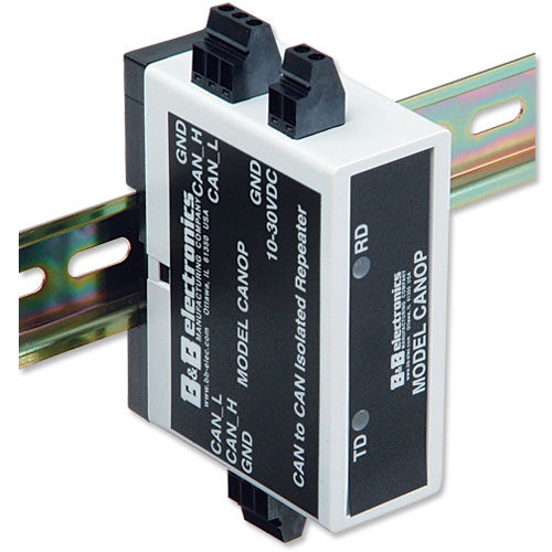 CAN Optically Isolated Repeater, DIN-Rail Mount
