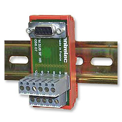 Adey Electronics Terminal Block To Db9 Female Din Rail