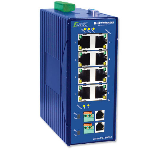 ETHERNET EXT, MANAGED (8)10/100, (2)VDSL, DIN RAIL