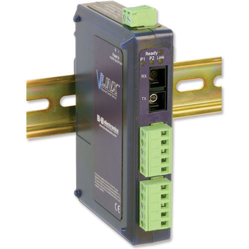 Industrial Modbus Ethernet to Serial Server with Single-mode Fiber Port