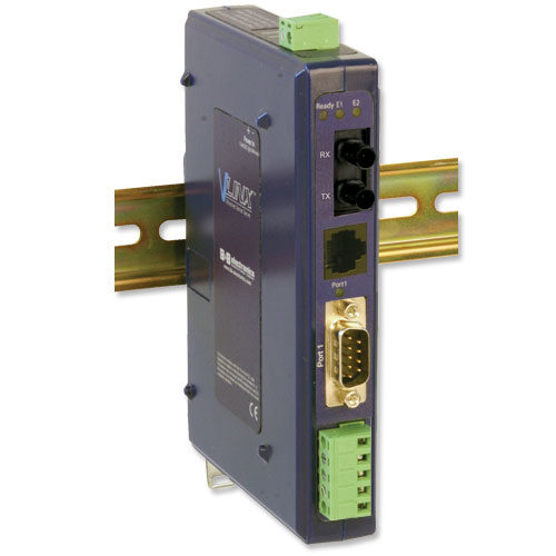 Industrial Modbus Ethernet to Serial Converter w/Copper & Multi-mode Fiber Ports