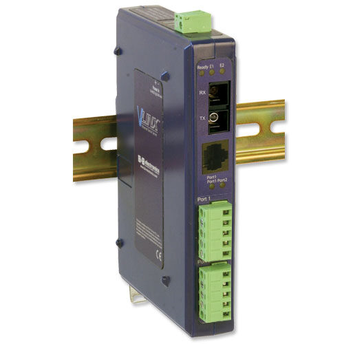 Industrial Modbus Ethernet to Serial Converter w/Copper & Single-mode Fiber Port