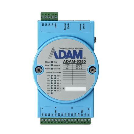 15-CH ISOLATED DIGITAL I/O MODBUS TCP MODULE