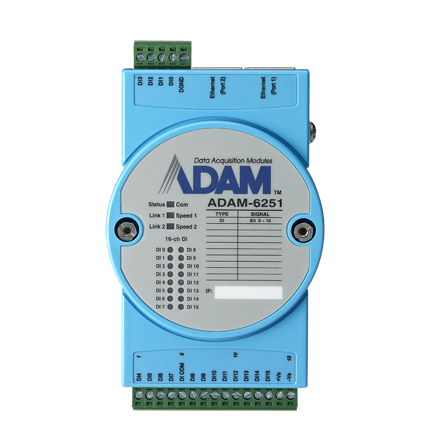 16-CH ISOLATED DIGITAL INPUT MODBUS TCP MODULE