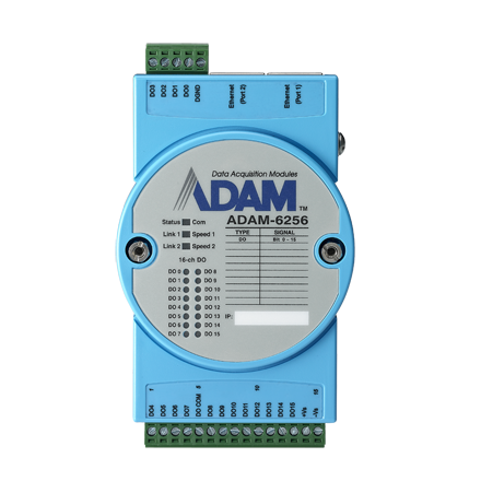 16-CH ISOLATED DIGITAL OUTPUT MODBUS TCP MODULE