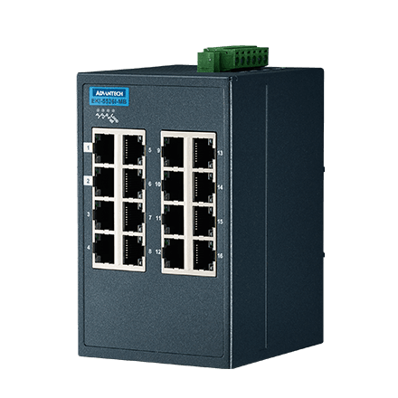 16FE Ind. Switch with Modbus TCP/IP.