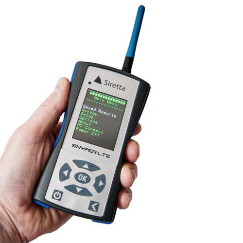 SNYPER-LTE+ Siretta 4G/LTE, 3G/UMTS & 2G/GSM Signal Analyser kit (Single Scan)