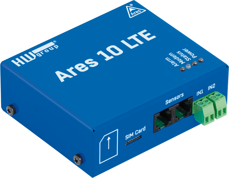 Ares10 LTE: GSM and LTE thermometer for remote monitoring
