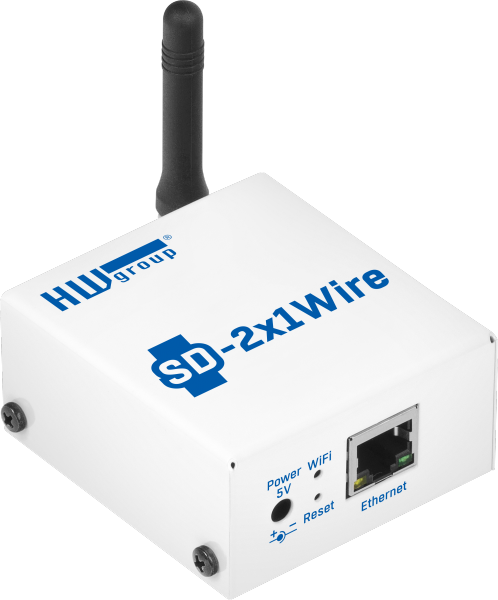 SD-2x1Wire: Temperature and humidity monitoring device with Ethernet and WiFi