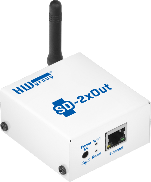 SD-2xOUT: Two digital outputs with Ethernet and WiFi