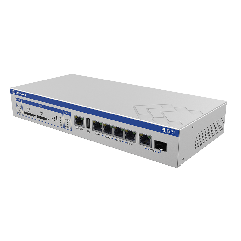 TELTONIKA RUTXR1 ENTERPRISE RACK-MOUNTABLE SFP & LTE ROUTER
