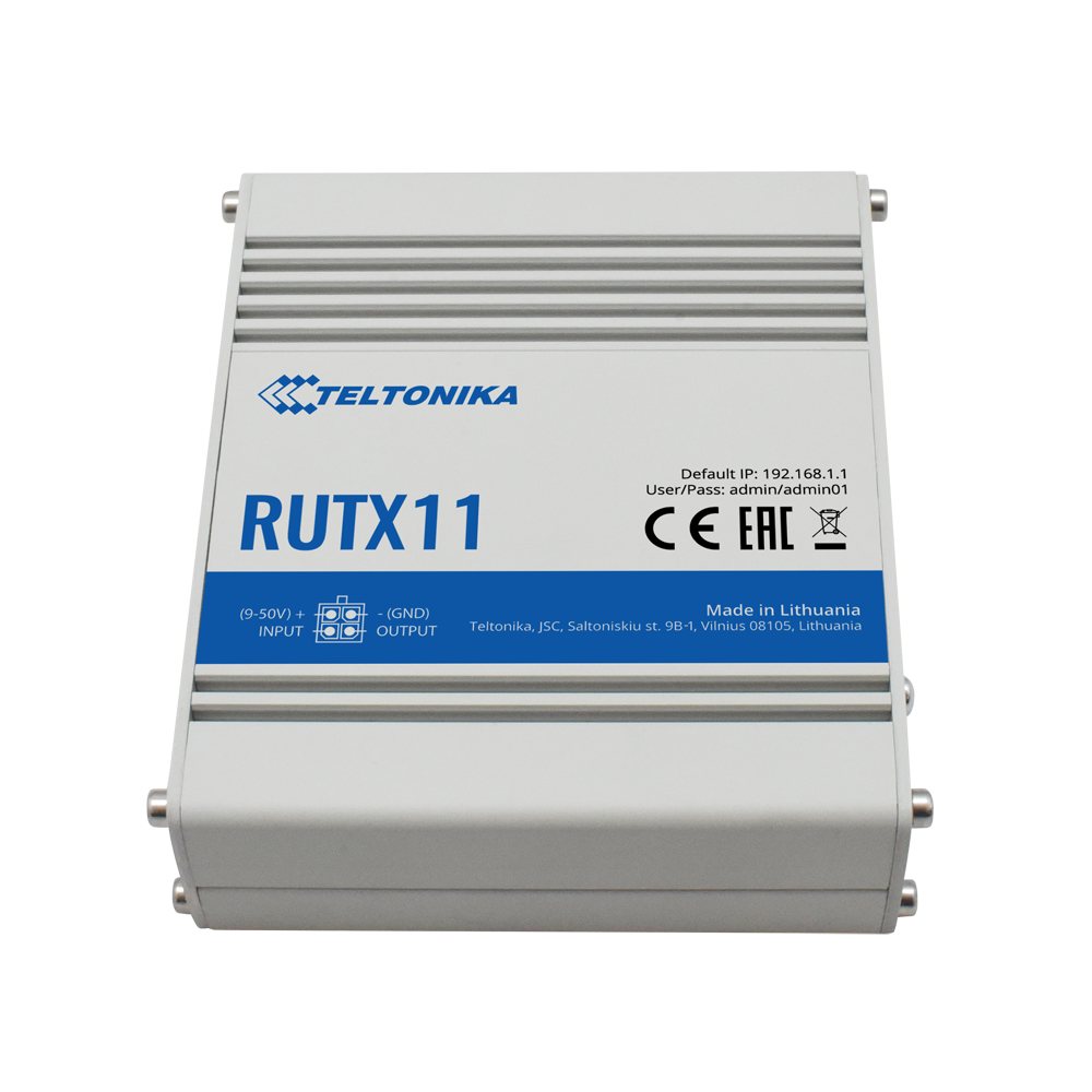 TELTONIKA RUTX11 INDUSTRIAL CAT 6 CELLULAR ROUTER